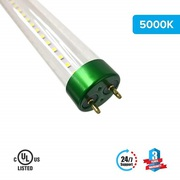 T8 4ft 18W LED Tube Glass 5000K Clear Plug N Play Works With A Ballast