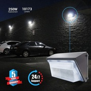 LED Wall Pack 80W 5700K Forward Throw 10, 173 Lumens