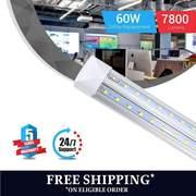 T8 8ft V shape LED tube 60w Integrated 5000k Clear