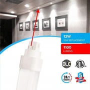 Rugged Grade Quality LED PL BULB 12W,  5000K (Daylight White)